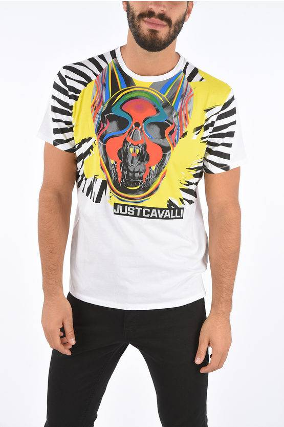 Just Cavalli T-shirt con Fantasia Astratta taglia L