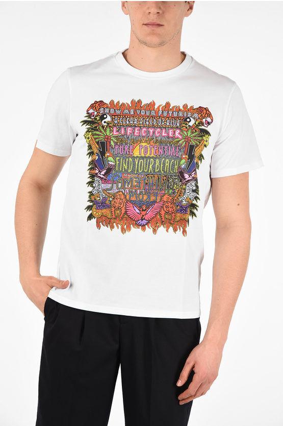 Neil Barrett T-Shirt Slim Fit FIND YOUR BEACH con Stampa taglia 3xl