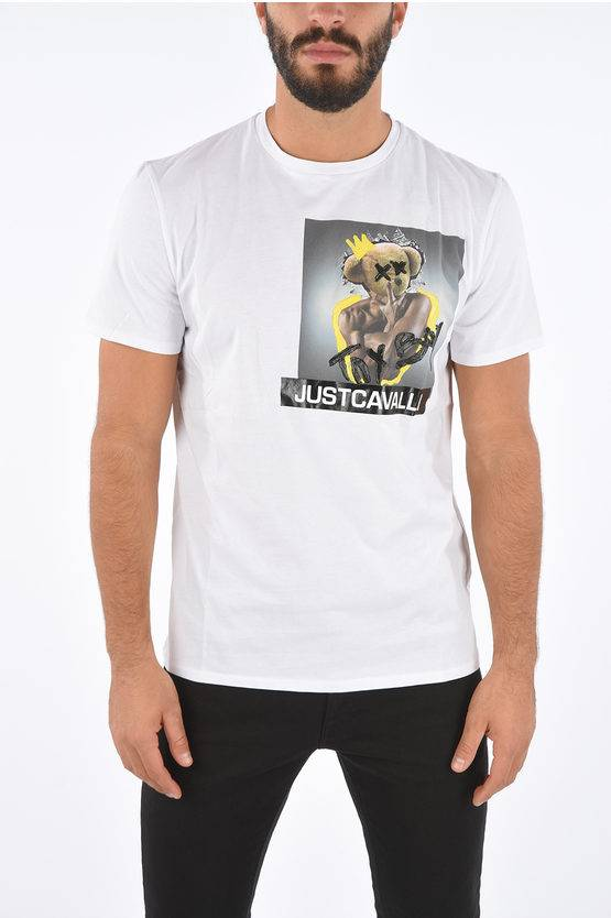 Just Cavalli T-Shirt Stampata con Rilievo taglia L