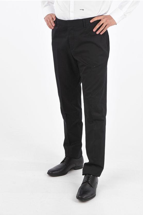 Zegna ZZEGNA Pantaloni Senza Orlo in Cotone Stretch taglia 50