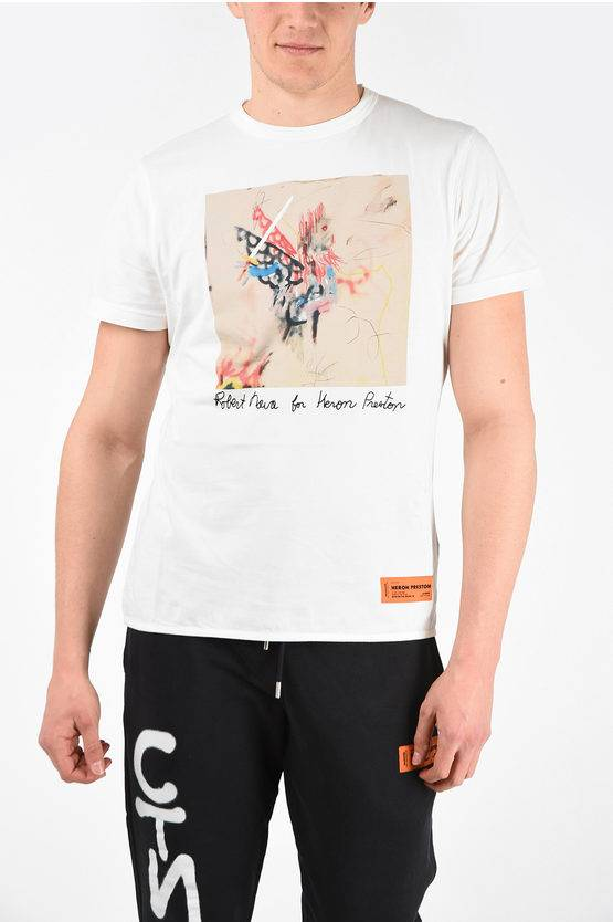 Heron Preston T-Shirt REG ROBERT NAVA in Cotone taglia M