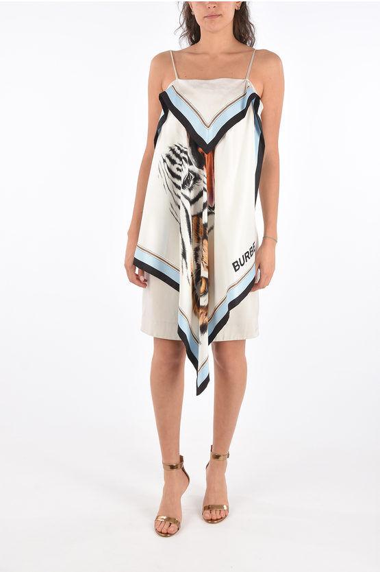 burberry vestito foulard stampato taglia 36