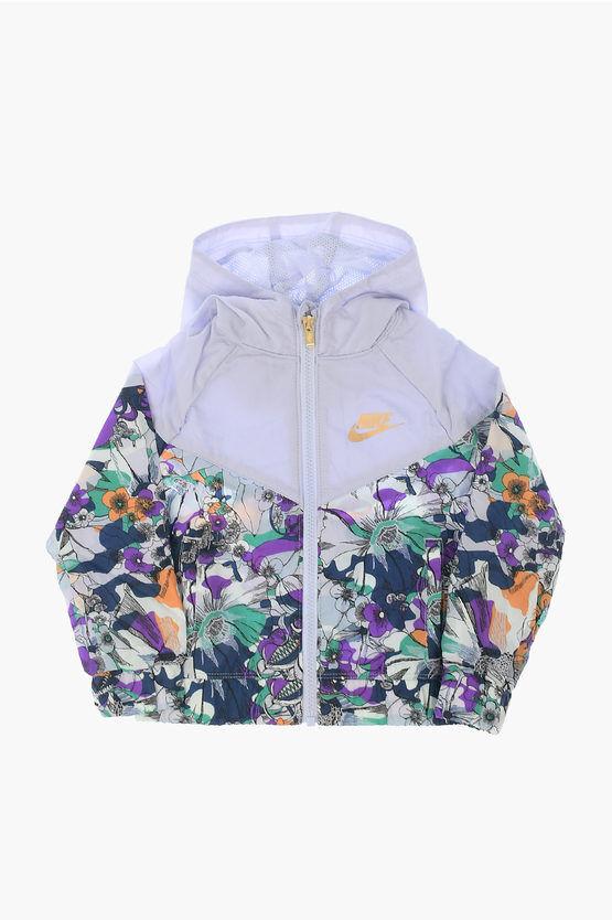 nike giacca a vento a fiori taglia 4 a