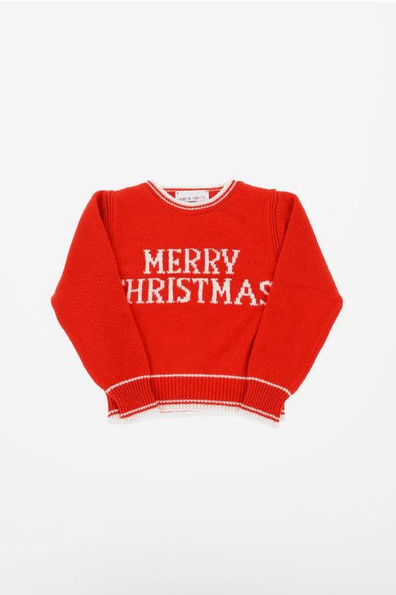 alberta ferretti maglia girocollo merry christmas taglia 10 a