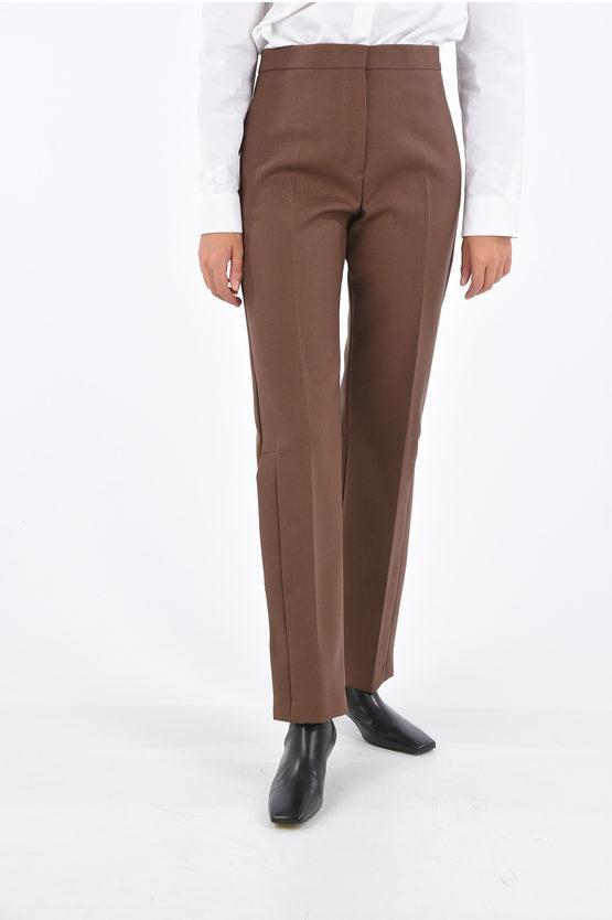 jil sander pantaloni palazzo lapo con spacco laterale taglia 42