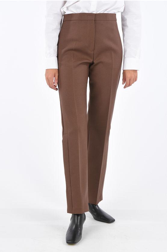 jil sander pantaloni palazzo lapo con spacco laterale taglia 38