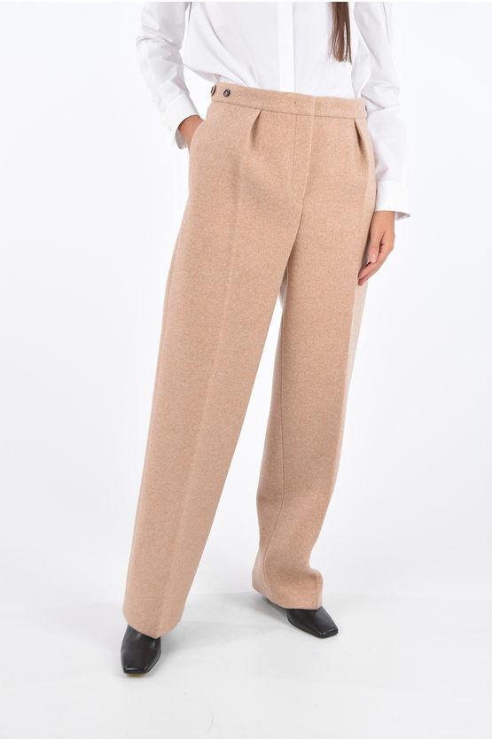 jil sander pantaloni palazzo lienn ad 1 pince con tasche a filo taglia 42