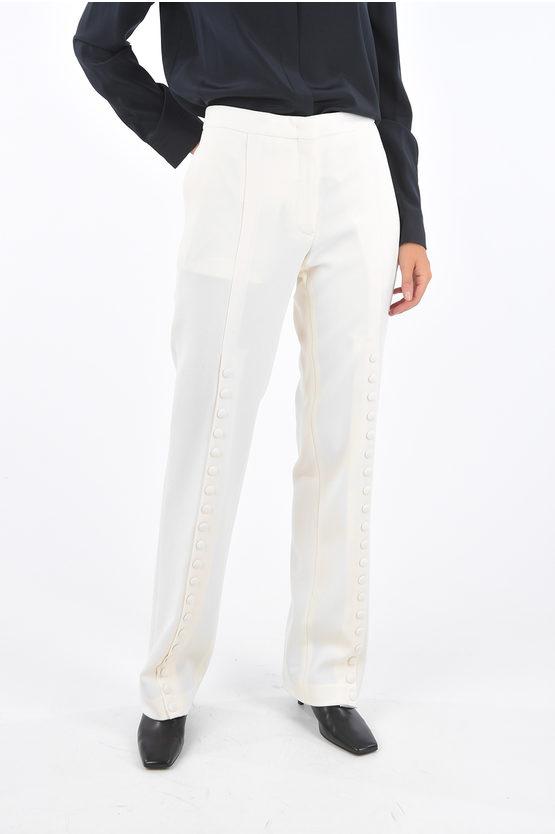 jil sander pantaloni palazzo luna con spacchi laterali taglia 44