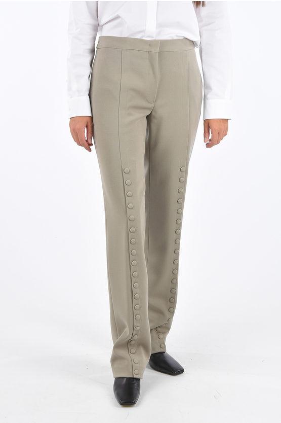 jil sander pantaloni palazzo luna con spacchi laterali taglia 38