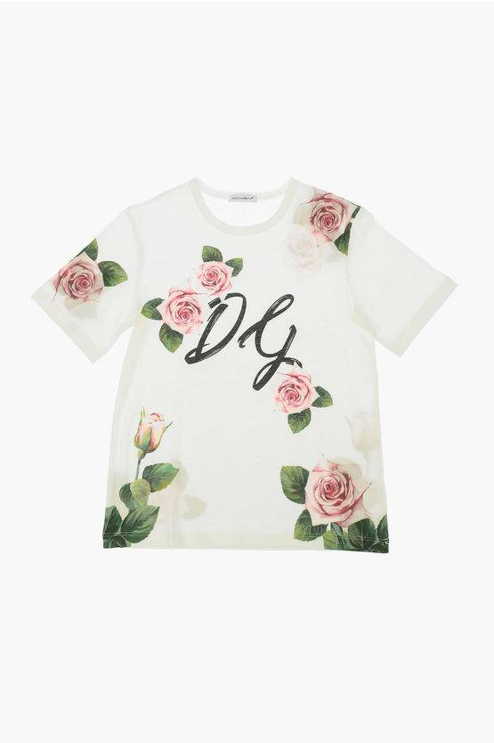 dolce&gabbana t-shirt a fiori taglia 10 a
