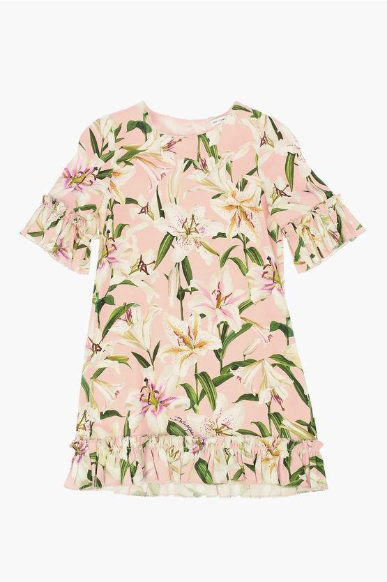 dolce&gabbana vestito a fiori taglia 6 a