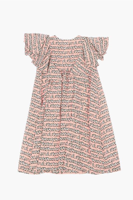 fendi vestito stampa cuori taglia 6 a