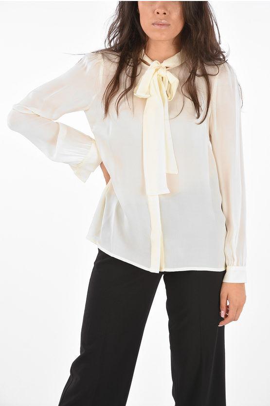 Michael Kors Camicia Tie neck in Seta taglia L
