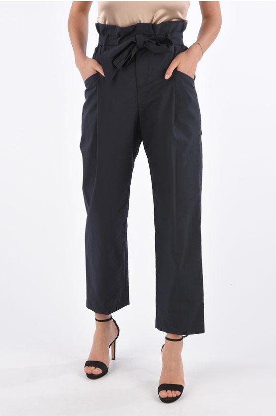 Brunello Cucinelli Pantaloni a Vita Alta a Una Pince con Cintura taglia 38