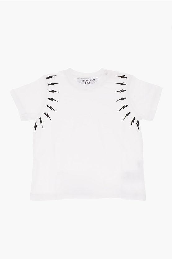 Neil Barrett T-shirt FAIRISLE THUNDERBOLT girocollo taglia 24 M