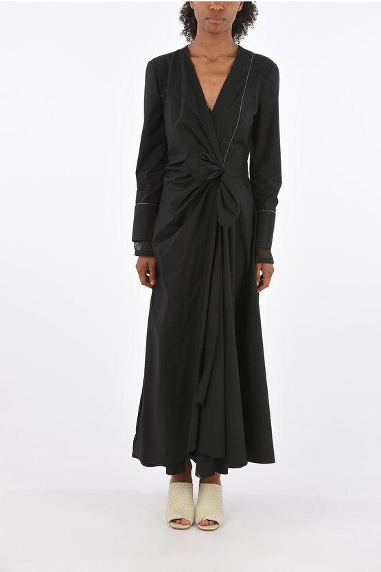 Loewe vestito maxi GATHERED scollo a v taglia 42