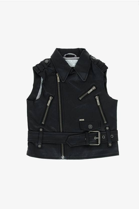 John Galliano Gilet in Ecopelle taglia 4 A