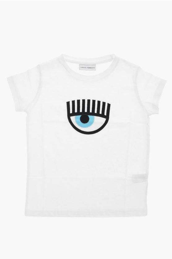 Chiara Ferragni Kids T-shirt ricamo Occhio taglia 5-6 A