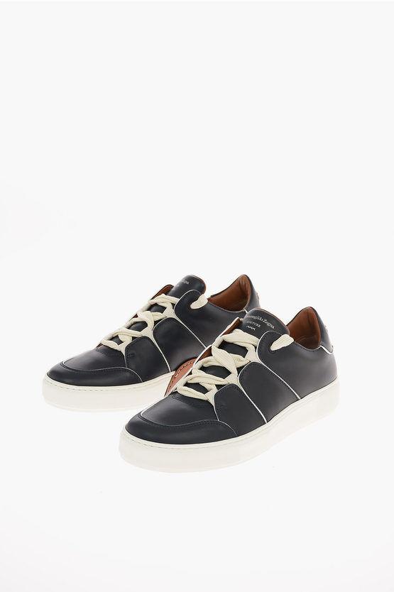 Zegna EZ COUTURE Sneakers TIZIANO in Pelle taglia 7