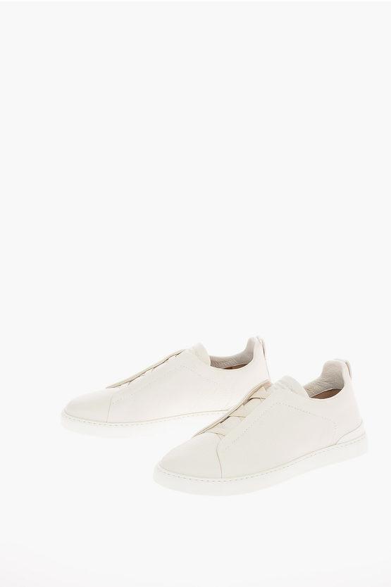 Zegna EZ COUTURE Sneakers TRIPLE STITCH in Pelle taglia 9