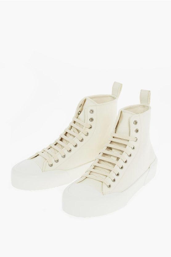 Jil Sander Sneakers Alte in Canvas taglia 40