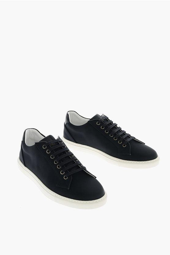 Corneliani Sneakers Basse con Orli in Pelle taglia 8