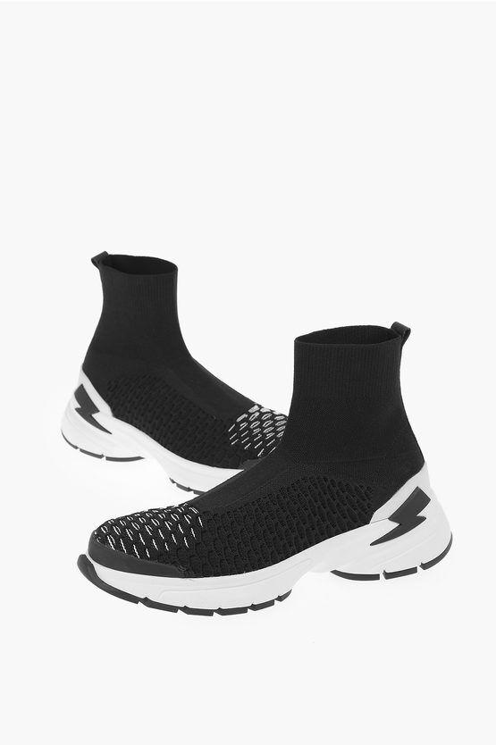 Neil Barrett Sneakers METEORITE SOCK in Tessuto taglia 46
