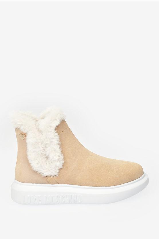 moschino love sneakers running in pelle scamosciata taglia 38