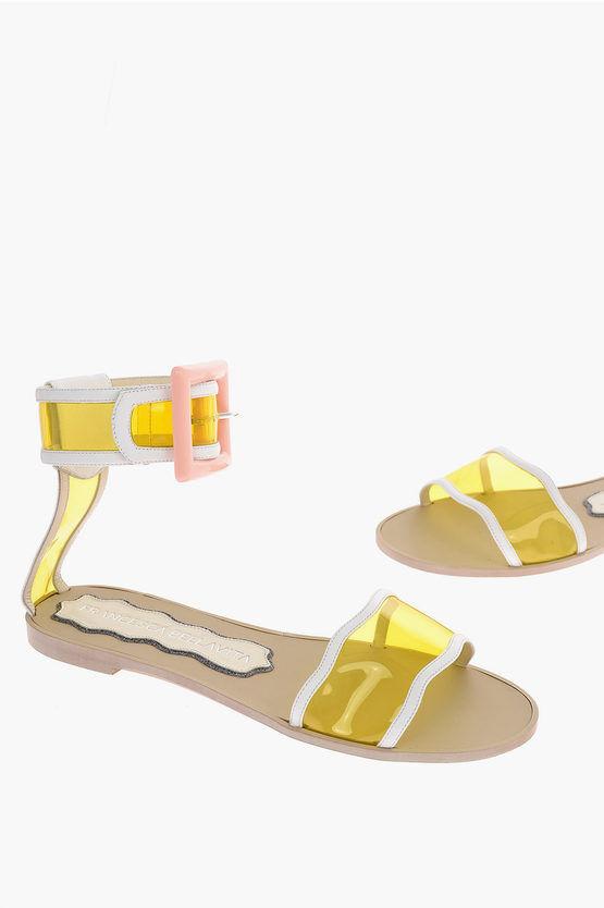 FRANCESCA BELLAVITA Sandali ankle-strap MELODY con Dettagli in Vinile taglia 37