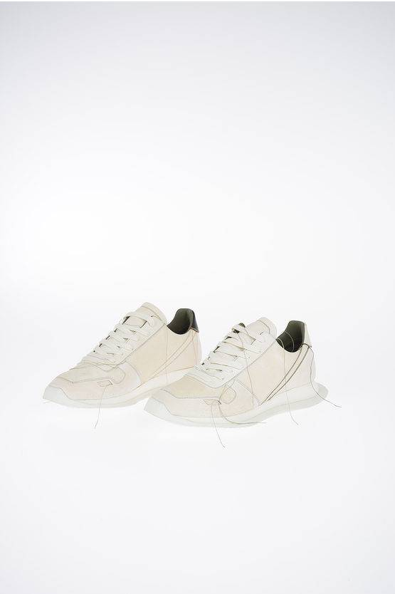 Rick Owens Sneaker VINTAGE RUNNER LACE UP in Pelle MILK/RIGHT taglia 36
