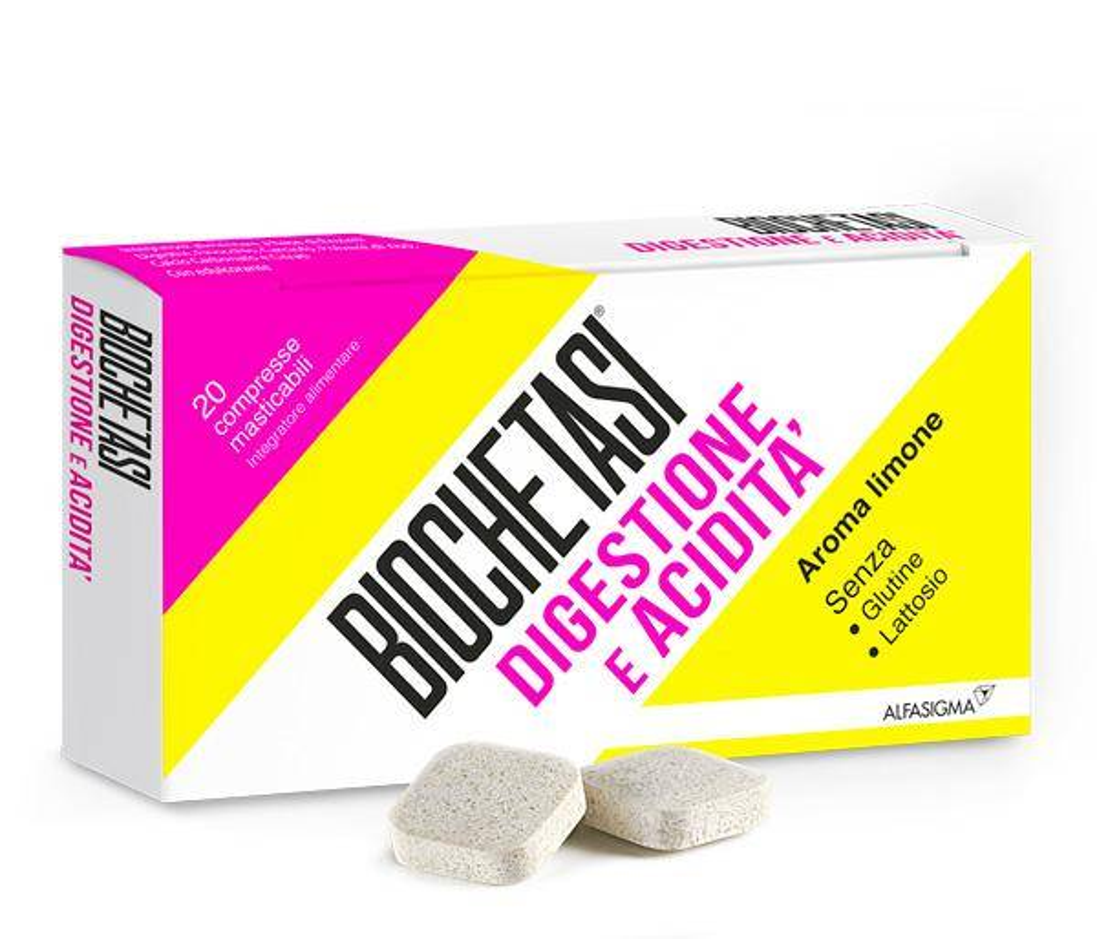 Biochetasi Digestione e Acidita' - 20 Compresse Masticabili