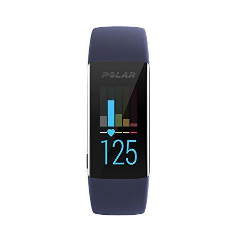 polar a370, activity tracker per fitness, monitoraggio attivit fisica con cardiofrequenzimetro integrato, display touch screen unisex-adulto, blu, m/l