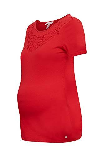 Esprit Maternity SS T-Shirt Premaman, Rosso (Red 630), 46 (Taglia Unica: Large) Donna