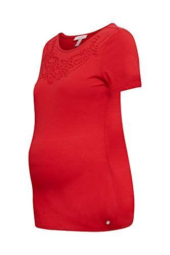 Esprit Maternity SS T-Shirt Premaman, Rosso (Red 630), 42 (Taglia Produttore: Small) Donna