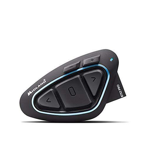 midland btx2 pro interfono moto bluetooth singolo, auricolari casco con cancellazione del rumore, comunicazione moto a moto fino a 1 km - 1 auricolare