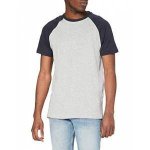 Urban Classics Raglan Contrast Tee T-Shirt, Grigio/Navy, XL Uomo