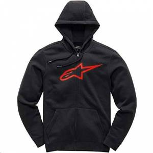 Alpinestars Ageless II Hooded Sweatshirt, Nero/Rosso, XXL Mens