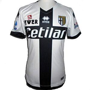 Errea MC Parma Calcio 1^MG Shop 19/20, Maglietta Sportiva Uomo, Bianco Nero, XL