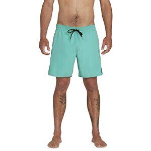 Volcom Lido Solid Trunk 16 Costume da Bagno a Pantaloncino, Mysto Green, XL Uomo