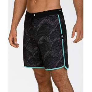 Hurley M Phantom Waves 18', Pantaloncini da Surf Uomo, Nero (Black), S
