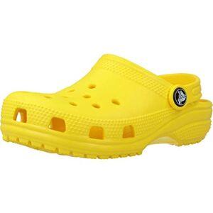Crocs Classic Clog Kids, Zoccoli, Verde (Lemon 7C1), 24/25 EU