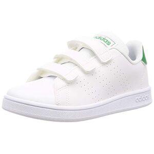 Adidas Advantage C, Scarpe da Tennis Unisex-Bambini, Multicolore (Ftwbla/Verde/Gridos 000), 33.5 EU