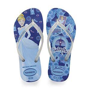 Havaianas Kids Slim Princess, Infradito Unisex Bambini, Multicolore (Blue Star 3847), 23/24 EU