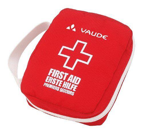 vaude first aid kit essential, pronto soccorso unisex adulto, rosso/bianco, taglia unica