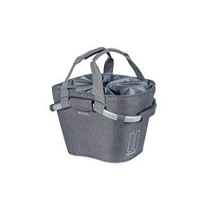 Basil Classic Carry All Klickfix - Cestino anteriore, 15 l, colore: Grigio