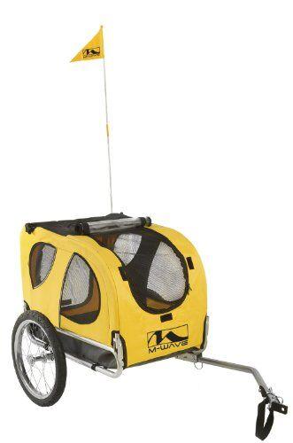 m-wave - trasportino animali per bicicletta, capacit 30 kg, 68 x 43,5 x 50 cm, colore giallo
