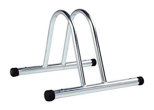 4bike am005 stand bici a terra, singolo, modulare, zincato, 36x37x27 cm