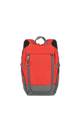 """Travelite """"basics"""": zaini per citt, ciclismo e escursionismo  Moda, funzionale, sicuro zaino, 35 cm, rosso/grigio (Rosso) - 096290-10"""