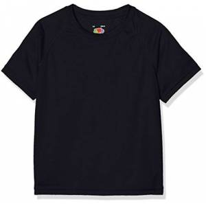 Fruit of the Loom New Kids Sport, T-Shirt Bambino, Bleu - Bleu (Bleu marine intense), 12-13 Anni (taglia Produttore: 34)