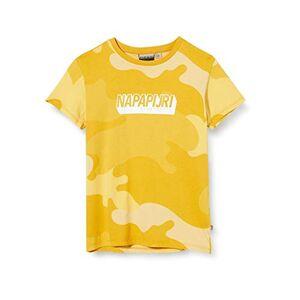 Napapijri K Sen T-Shirt, Multicolore (Yellow Camo Fu7 Fu71), 152 (Taglia Unica: 12) Bambino